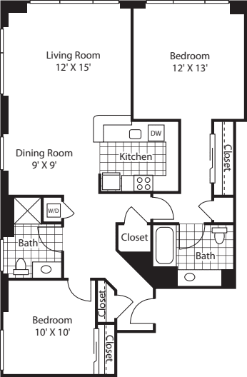 Two Bedroom 1051