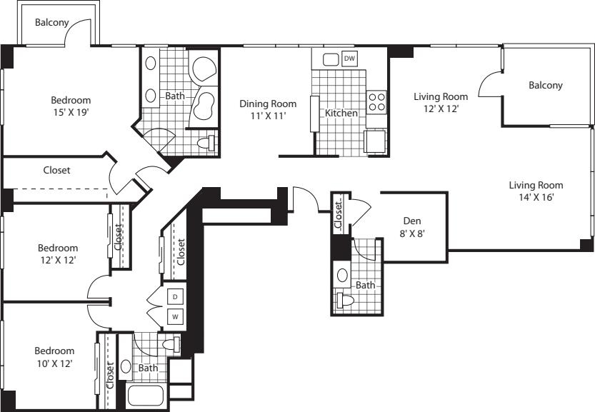 Three Bedroom 1842