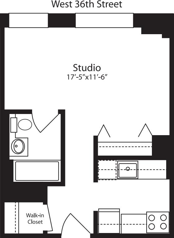 Plan H, floors 3-15