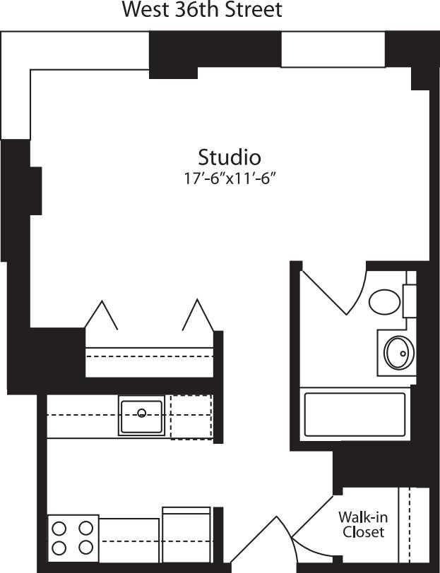 Plan J, floors 3-15