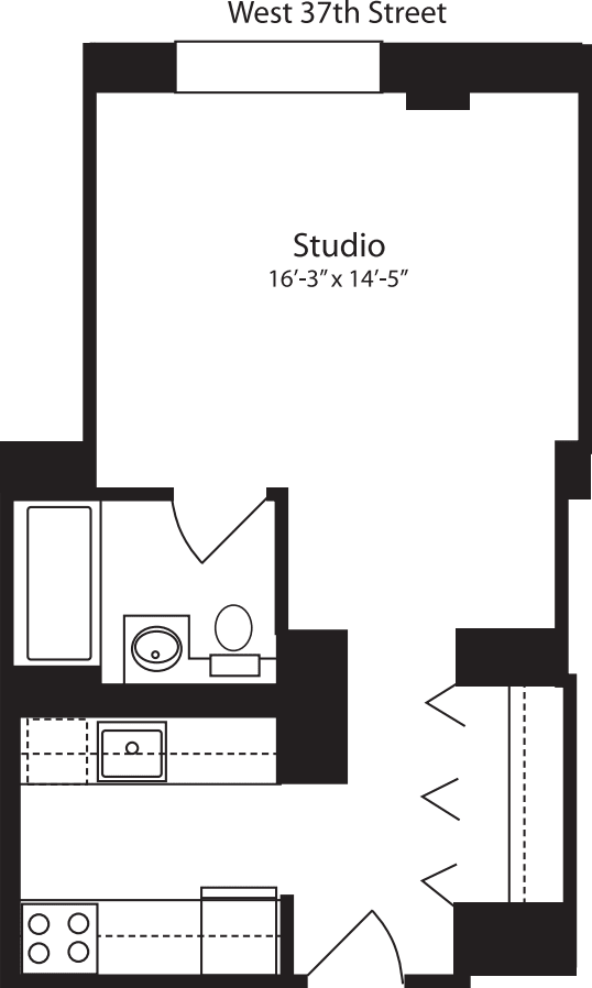 Plan S, floors 3-10