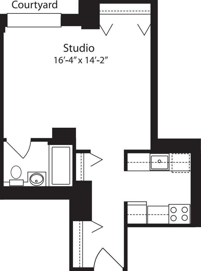 Plan A, floors 4-15