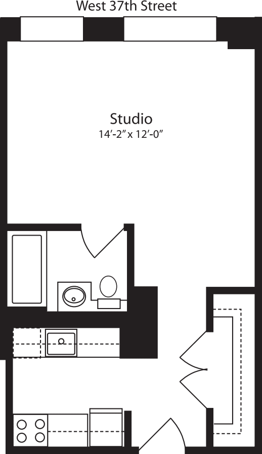 Plan U, floors 4-10