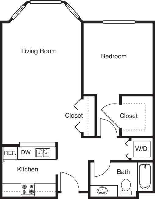 1 Bedroom -694