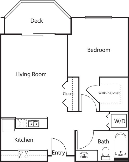 1 Bedroom -628