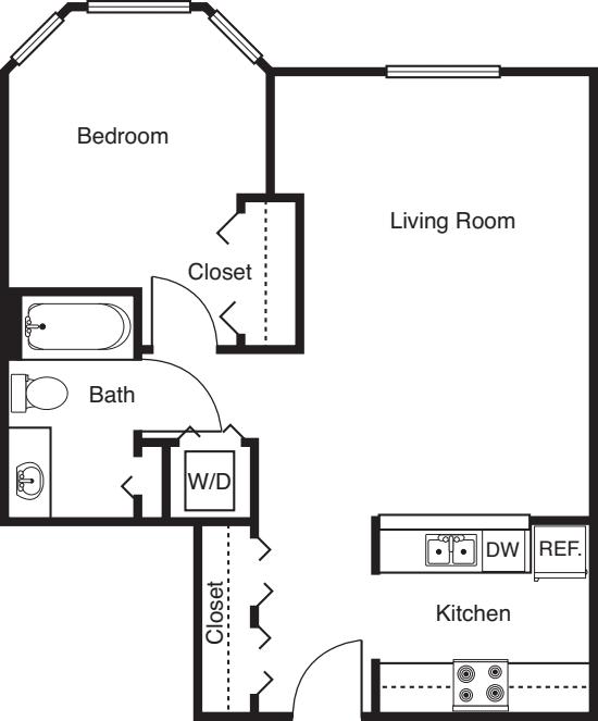 1 Bedroom -665