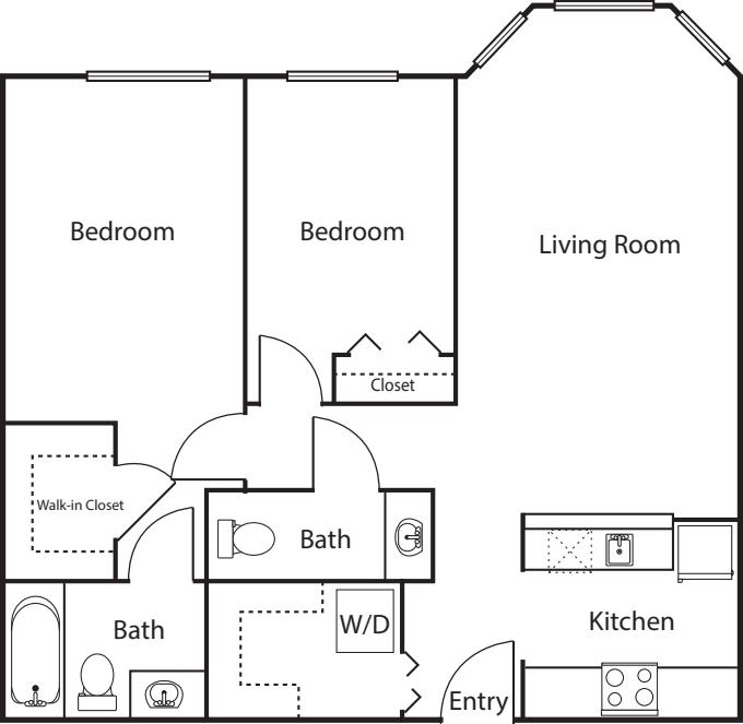 2 Bedroom -923