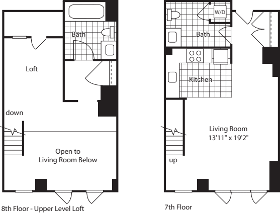 1 Bed Loft (North) - 854