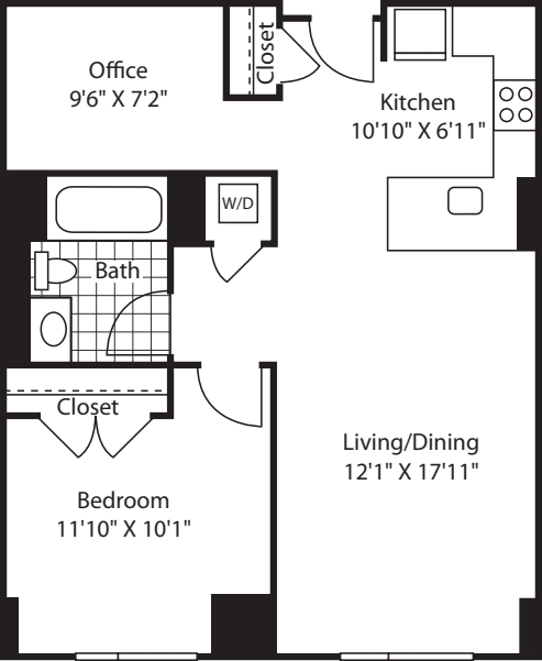 1 Bed (South) - 750