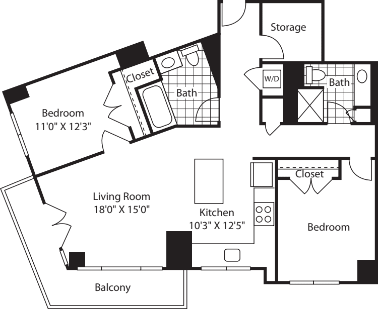 2 Bed (South) - 1229