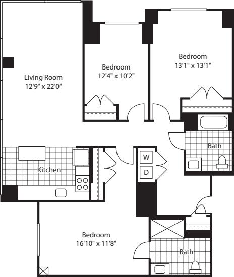 3 Bed (North) - 1500