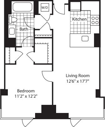 1 Bed (North)- 728