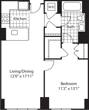 1 Bed (North)- 714