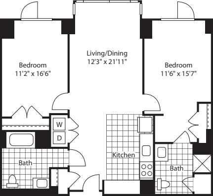2 Bed (North)- 1113