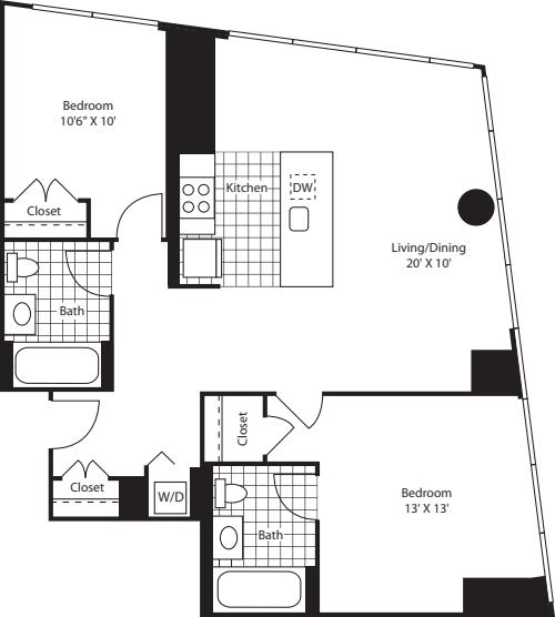 Two Bedroom D43-46