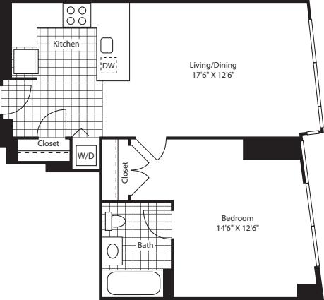 One Bed Ukit FL 28-42