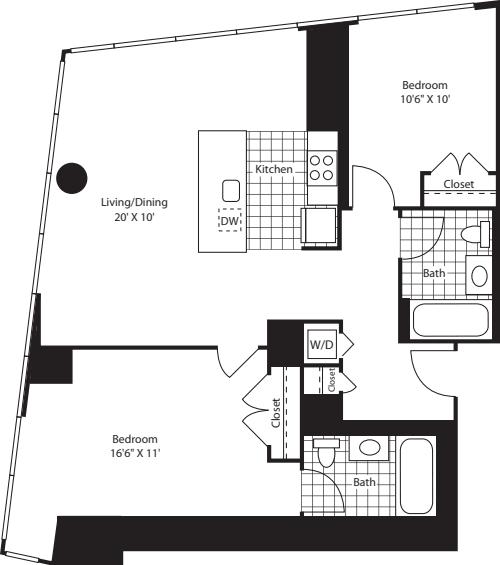 Two Bedroom OpenKit FL 28-46