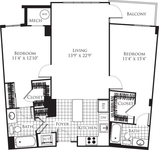 2 Bedroom- 1146