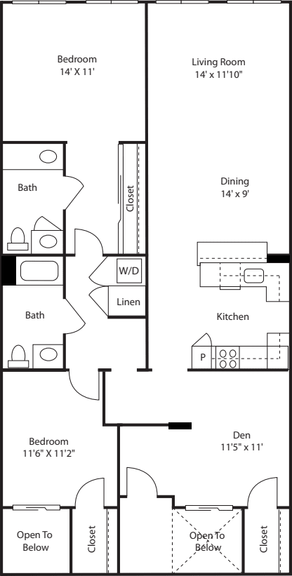 Two Bedroom 1354