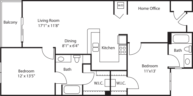 Two Bedroom 1125