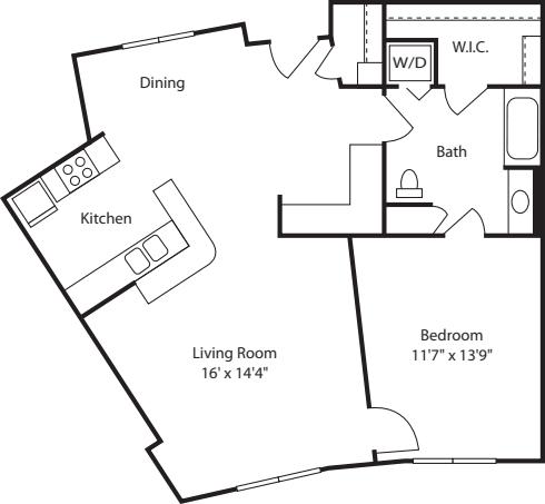 One Bedroom 950