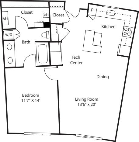 One Bedroom 860