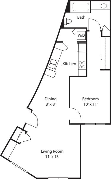One Bedroom 770