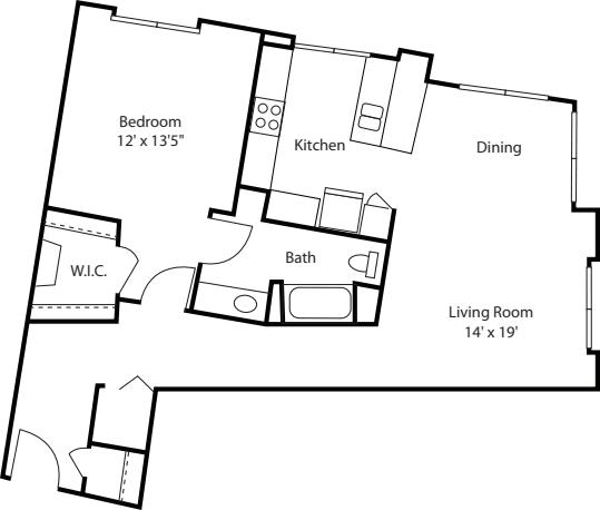 One Bedroom 920