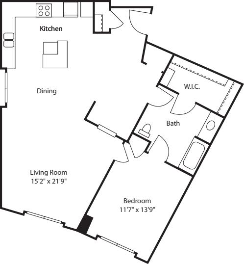 One Bedroom 1040
