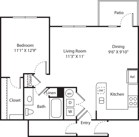 One Bed A-4 - Phase II