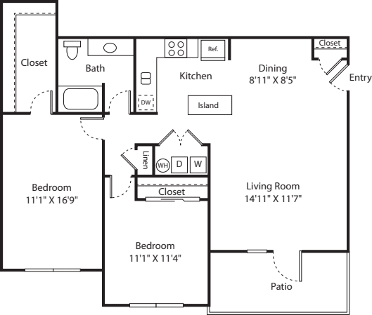 Two Bed B-1 - Phase II