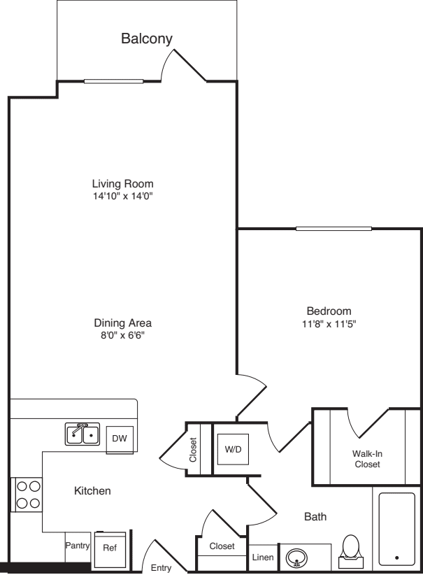 One Bed A-5 - Phase III
