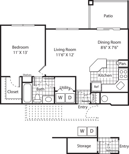 One Bed A-1 - Phase I
