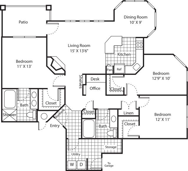 Three Bed C-1 - Phase I