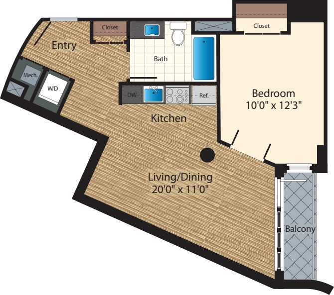 One Bedroom E/707