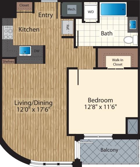 One Bedroom E/773