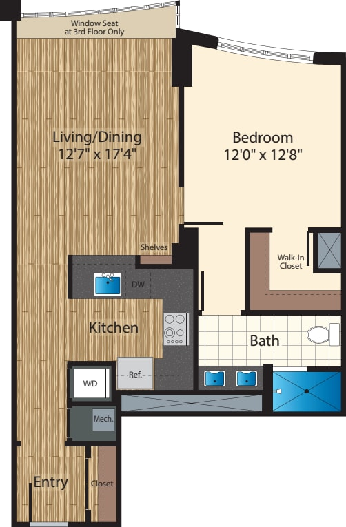 One Bedroom E/825