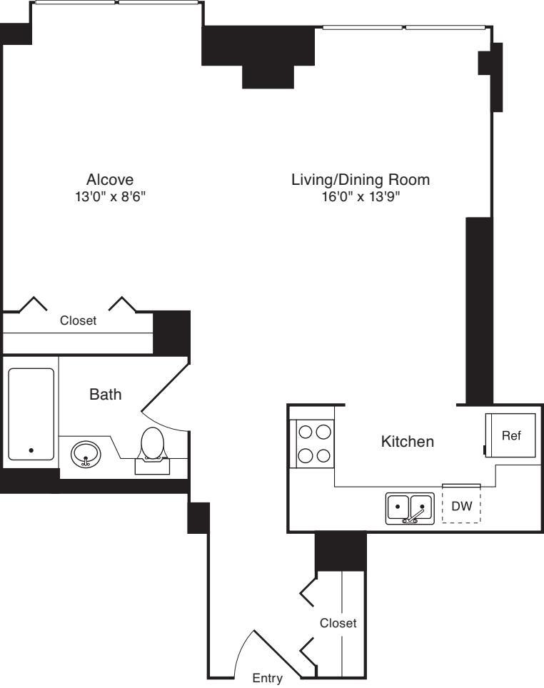 Residence J, floors 18-20