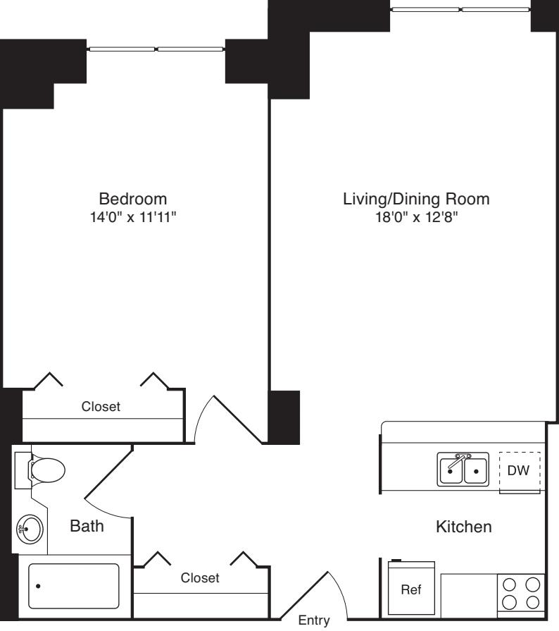 Residence 06, floors 3-8