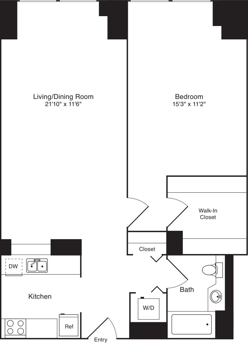 Residence K, floors 5-17