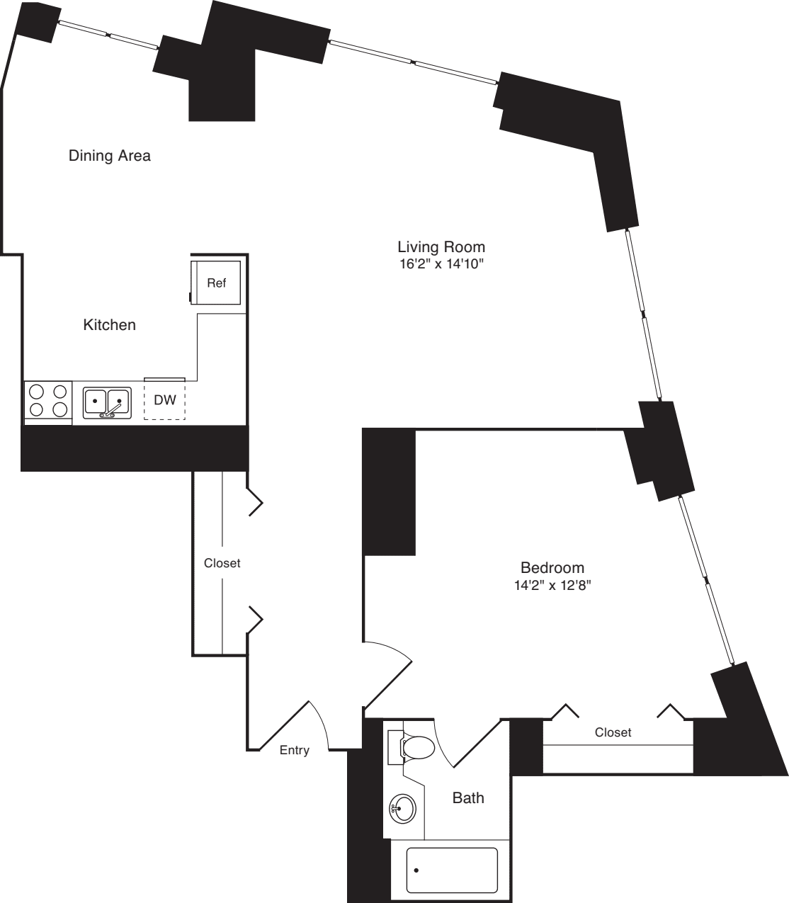 Residence 11, floors 3-8