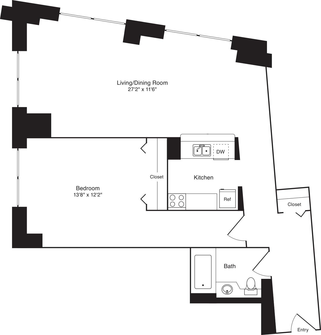 Residence 03, floors 3-8