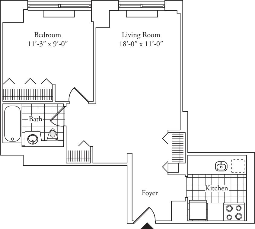 Residence I, floors 3-17