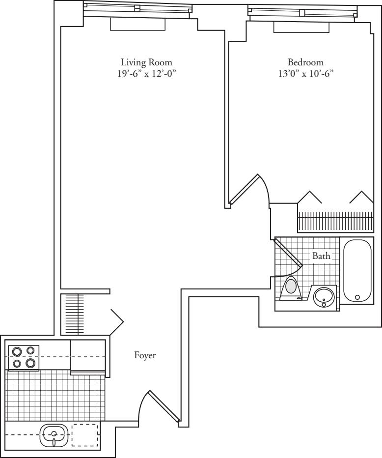 Residence V, floors 4-17