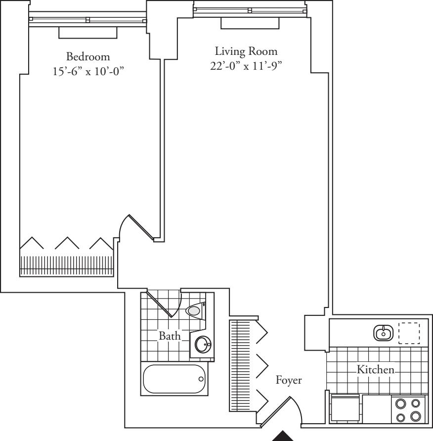 Residence T, floors 5-17