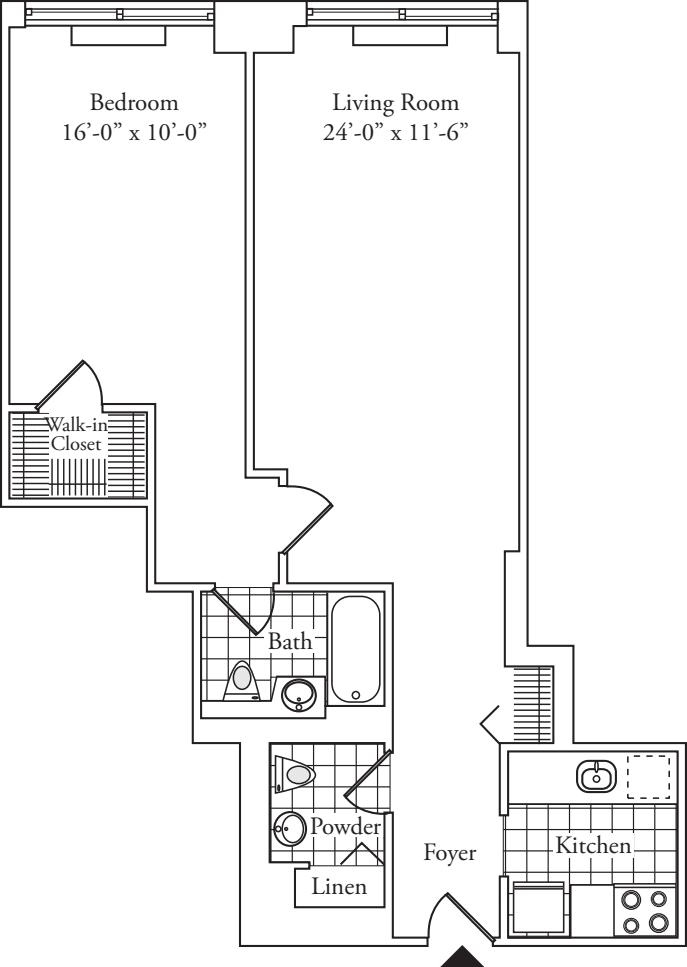 Residence O, floors 12-17