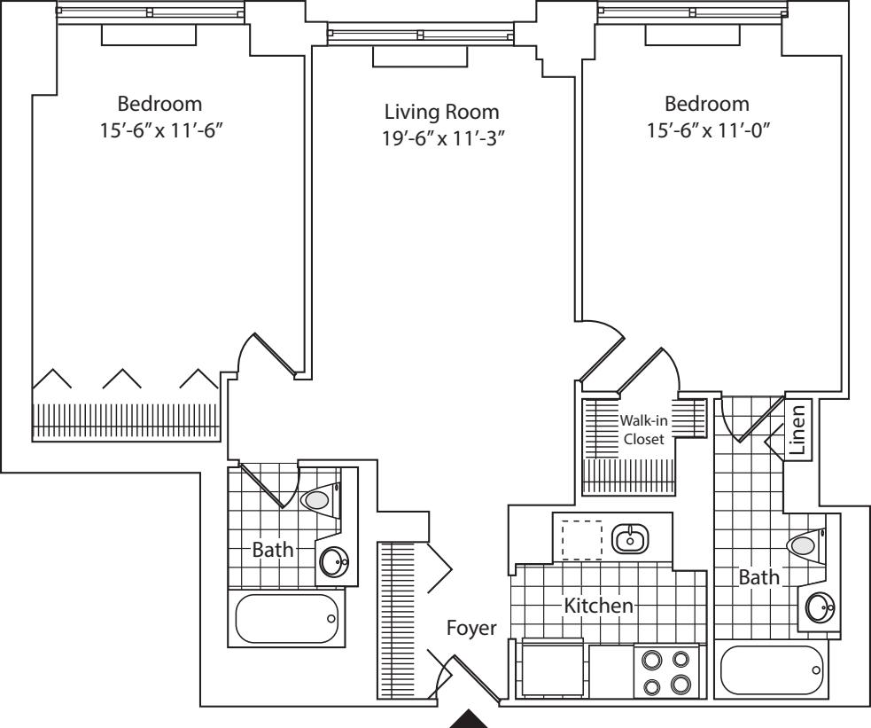 Residence L, floor 20