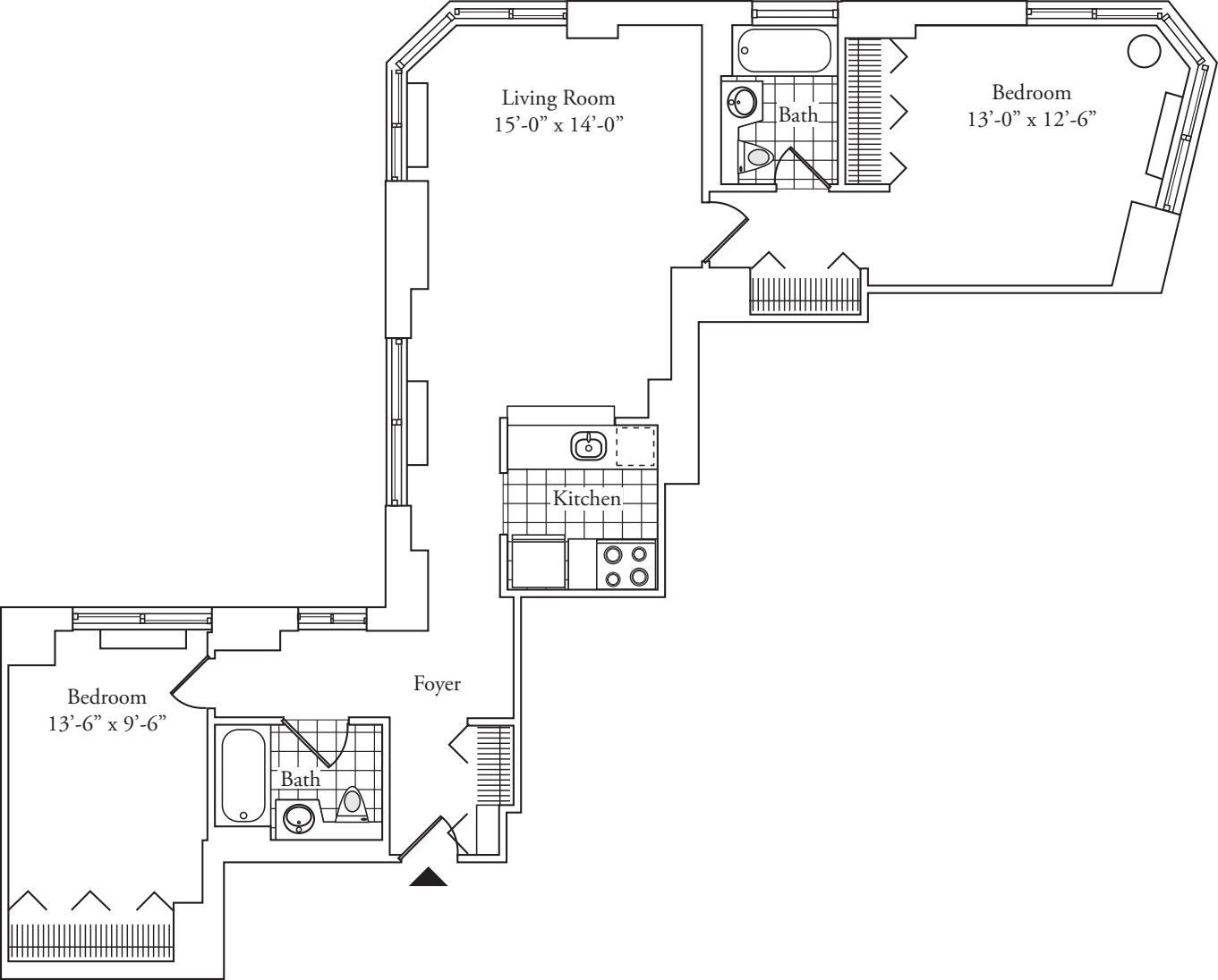 Residence K, floors 8-17