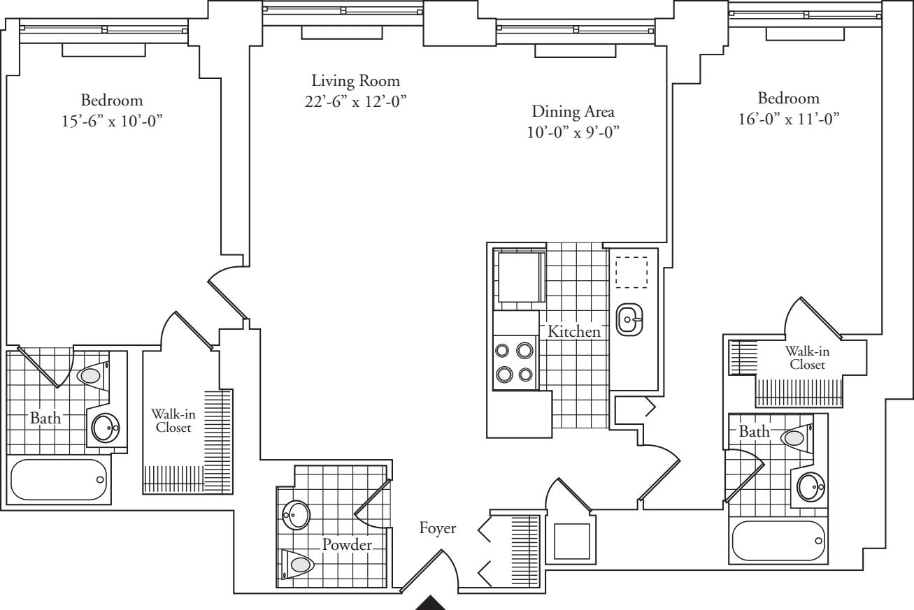Residence E, floors 37-P2