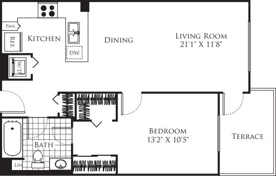 1 Bedroom FP 24